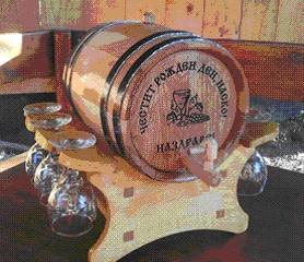 Дървена бъчва за алкохол